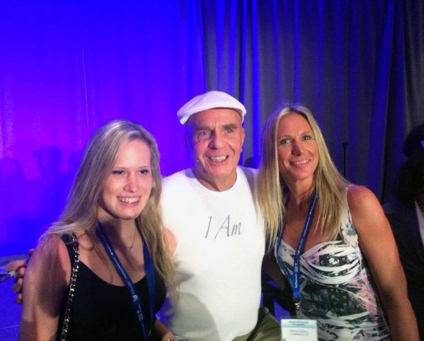 Trina Hall with Dr. Wayne Dyer and Jasmine Stewart