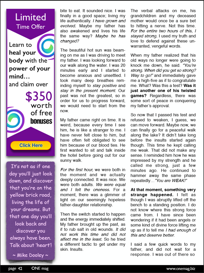 ONE mag - January 2015 Issue - Page 3